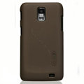 Nillkin Super Matte Hard Cases Skin Covers for Samsung i929 Galaxy S II DUOS - Brown (High transparent screen protector)