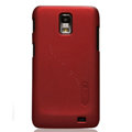 Nillkin Super Matte Hard Cases Skin Covers for Samsung i929 Galaxy S II DUOS - Red (High transparent screen protector)
