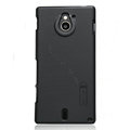 Nillkin Super Matte Hard Cases Skin Covers for Sony Ericsson MT27i Xperia sola - Black (High transparent screen protector)