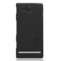 Nillkin Super Matte Hard Cases Skin Covers for Sony Ericsson ST25i Xperia U - Black (High transparent screen protector)