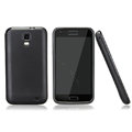 Nillkin Super Matte Rainbow Cases Skin Covers for Samsung E110S Galaxy SII LTE - Black (High transparent screen protector)
