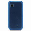 Nillkin Super Matte Rainbow Cases Skin Covers for Samsung GT-S5750E - Blue (High transparent screen protector)