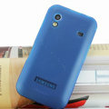 Nillkin Super Matte Rainbow Cases Skin Covers for Samsung Galaxy Ace S5830 i579 - Blue (High transparent screen protector)