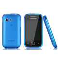 Nillkin Super Matte Rainbow Cases Skin Covers for Samsung S5360 Galaxy Y I509 - Blue (High transparent screen protector)