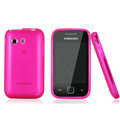 Nillkin Super Matte Rainbow Cases Skin Covers for Samsung S5360 Galaxy Y I509 - Pink (High transparent screen protector)