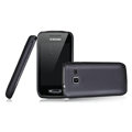 Nillkin Super Matte Rainbow Cases Skin Covers for Samsung S5380 Wave Y - Black (High transparent screen protector)