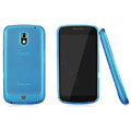 Nillkin Super Matte Rainbow Cases Skin Covers for Samsung i9250 GALAXY Nexus Prime i515 - Blue (High transparent screen protector)