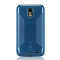 Nillkin Super Matte Rainbow Cases Skin Covers for Samsung i929 Galaxy S II DUOS - Blue (High transparent screen protector)