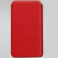 Nillkin leather Cases Holster Covers for Samsung E120L GALAXY S2 SII HD LTE - Red (High transparent screen protector)