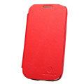 Nillkin leather Cases Holster Covers for Samsung Galaxy SIII S3 I9300 I9308 - Red (High transparent screen protector)