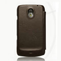 Nillkin leather Cases Holster Covers for Samsung i9250 GALAXY Nexus Prime i515 - Brown (High transparent screen protector)
