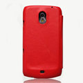 Nillkin leather Cases Holster Covers for Samsung i9250 GALAXY Nexus Prime i515 - Red (High transparent screen protector)