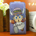Arale Leather case For HTC Incredible S S710E G11 - Blue