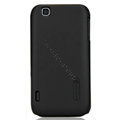 Nillkin Super Matte Hard Cases Skin Covers for LG E730 Optimus Sol - Black (High transparent screen protector)