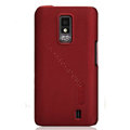 Nillkin Super Matte Hard Cases Skin Covers for LG LU6200 Optimus LTE - Red (High transparent screen protector)