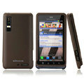 Nillkin Super Matte Hard Cases Skin Covers for Motorola XT883 - Brown (High transparent screen protector)