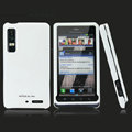 Nillkin Super Matte Hard Cases Skin Covers for Motorola XT883 - White (High transparent screen protector)