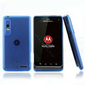 Nillkin Super Matte Rainbow Cases Skin Covers for Motorola XT883 - Blue (High transparent screen protector)