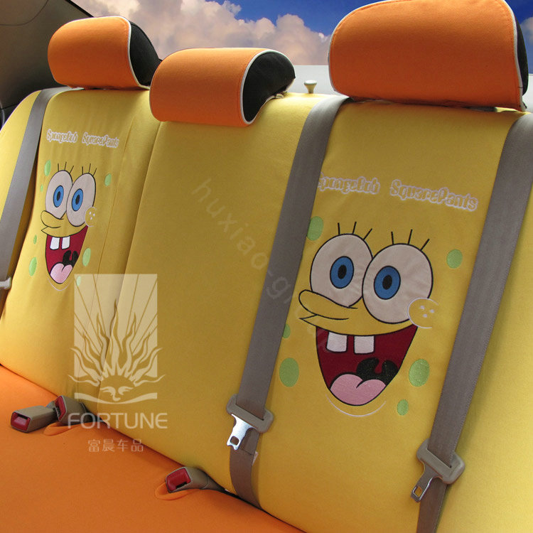 buy wholesale fortune spongebob autos car seat covers for 2011 honda cr v sport utility yellow. Black Bedroom Furniture Sets. Home Design Ideas