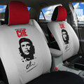 FORTUNE CHE Benicio Del Toro Autos Car Seat Covers for 2010 Honda Fit - Gray