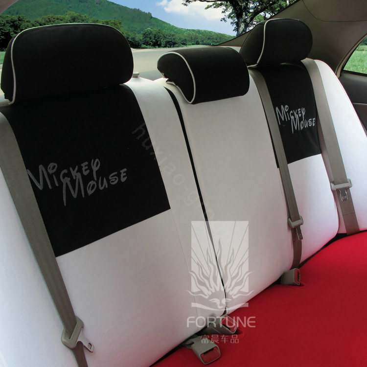 buy wholesale fortune mickey mouse autos car seat covers for 2008 honda fit white from chinese. Black Bedroom Furniture Sets. Home Design Ideas