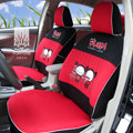 FORTUNE Pucca Funny Love Autos Car Seat Covers for 2007 Honda Fit - Red