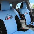 FORTUNE Racing Car Autos Car Seat Covers for 2008 Honda Fit - Blue
