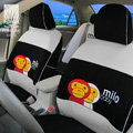 FORTUNE Baby Milo Bape Autos Car Seat Covers for 2012 Honda City 1.5AT Flagship - Gray