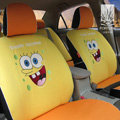 FORTUNE Spongebob Autos Car Seat Covers for 2012 Honda City 1.8AT Flagship - Yellow
