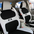 FORTUNE Batman Forever Autos Car Seat Covers for 2012 Toyota 5 Door Yaris SE - Gray