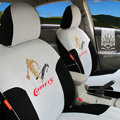FORTUNE Comets Autos Car Seat Covers for 2012 Toyota 5 Door Yaris SE - Gray