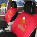 FORTUNE Garfield Autos Car Seat Covers for 2012 Toyota 5 Door Yaris L - Red