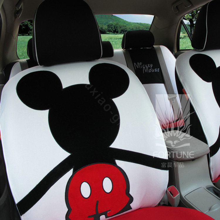 buy wholesale fortune mickey mouse autos car seat covers for 2008 toyota yaris 3 door 5 door. Black Bedroom Furniture Sets. Home Design Ideas