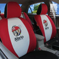 FORTUNE iMario Autos Car Seat Covers for 2012 Toyota 5 Door Yaris SE - Red