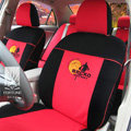FORTUNE Brcko distrikt Autos Car Seat Covers for 2009 Toyota Highlander 7 Seats - Red