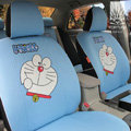 FORTUNE Doraemon Autos Car Seat Covers for 2007 Toyota Highlander 7 Seats - Blue