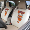 FORTUNE Garfield Autos Car Seat Covers for 2009 Toyota Yaris 4-Door Sedan - Apricot