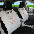 FORTUNE Hello Kitty Autos Car Seat Covers for 2009 Toyota Yaris 4-Door Sedan - Apricot