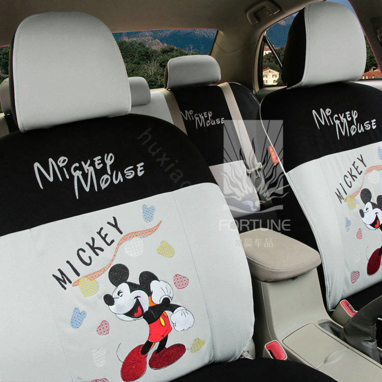buy wholesale fortune mickey mouse autos car seat covers for 2007 toyota highlander 7 seats. Black Bedroom Furniture Sets. Home Design Ideas
