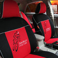 FORTUNE Palm Beach Cycle Club Autos Car Seat Covers for 2009 Toyota Yaris 4-Door Sedan - Red