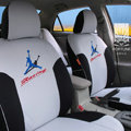 FORTUNE Racing Autos Car Seat Covers for 2009 Toyota Highlander 7 Seats - Gray