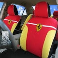 FORTUNE SF Scuderia Ferrari Autos Car Seat Covers for 2001 Toyota Highlander 7 Seats - Red