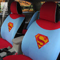FORTUNE Superman Clark Kent DC Autos Car Seat Covers for 2001 Toyota Highlander 7 Seats - Blue