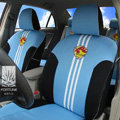 FORTUNE Vegalta Sendai Japan Autos Car Seat Covers for 2007 Toyota Highlander 5 Seats - Blue