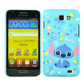 Cartoon Stitch Matte Hard Cases Covers for Samsung I9050 - Blue