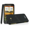 IMAK Cowboy Shell Quicksand Hard Cases Covers for HTC X720d One XC - Black (High transparent screen protector)