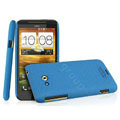 IMAK Cowboy Shell Quicksand Hard Cases Covers for HTC X720d One XC - Blue (High transparent screen protector)