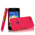 IMAK Cowboy Shell Quicksand Hard Cases Covers for Samsung i8530 Galaxy Beam - Rose (High transparent screen protector)