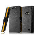 IMAK Slim leather Cases Luxury Holster Covers for Samsung i8530 Galaxy Beam - Black