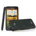 IMAK Ultrathin Matte Color Covers Hard Cases for HTC X720d One XC - Black (High transparent screen protector)